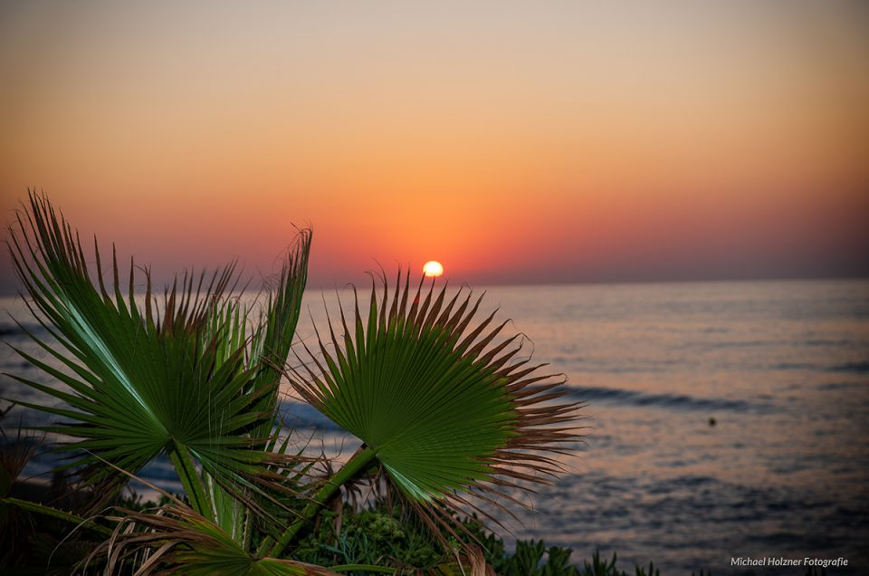 Sonnenuntergang auf der Insel Kreta
